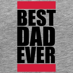 Best Dad Ever Logo Design T-Shirts - Männer Premium T-Shirt