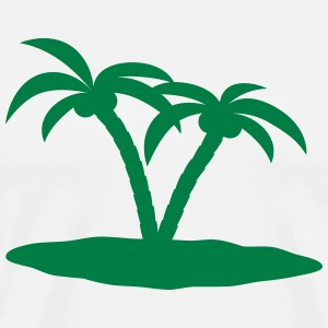 palm trees palmer T-shirts - Herre premium T-shirt
