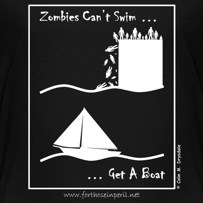 Children's T Shirt - Zombies Can't Swim