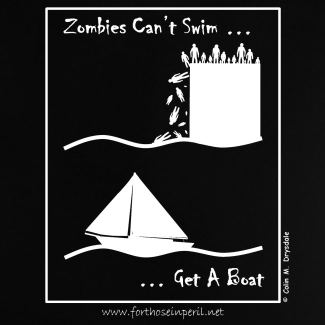 Baby's T Shirt - Zombies Can't Swim