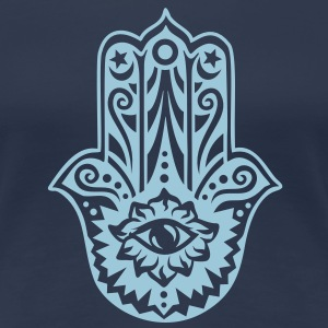 Hamsa Amulet, Hand of Fatima, Divine Protection T-Shirts - Frauen Premium T-Shirt