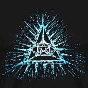 Eye of God, pentagram, frimurer, Triangle, visdom T-skjorter - Premium T-skjorte for menn