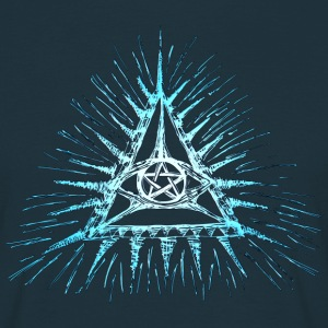 Eye of God, pentagram, Masonic, Triangle, wisdom T-Shirts - Men's T-Shirt