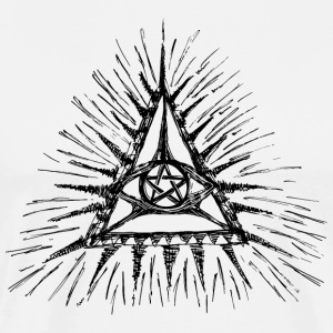 All SEEING EYE WITH PENTAGRAM - MAGIC SYMBOL T-Shirts - Men's Premium T-Shirt