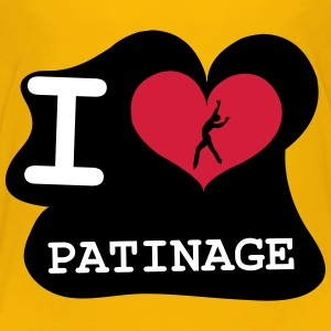 I Love Patinage Tee shirts - T-shirt Premium Enfant
