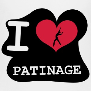 I Love Patinage Tee shirts - T-shirt Premium Ado