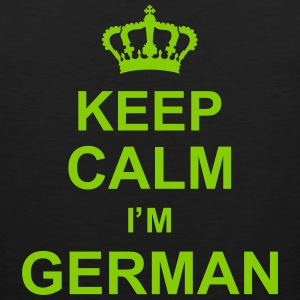 keep_calm_I'm_german_g1 Tank Top - Tank top męski Premium