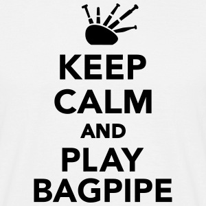 Keep calm and play bagpipe T-Shirts - Männer T-Shirt