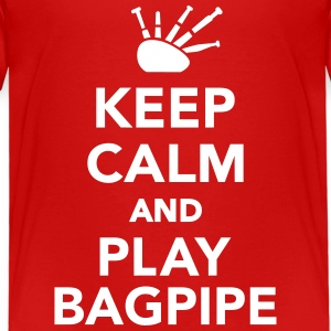 Keep calm and play bagpipe T-Shirts - Kinder Premium T-Shirt