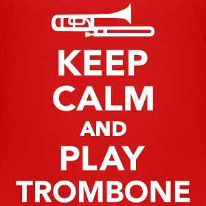 Keep calm and play Trombone T-Shirts - Kinder Premium T-Shirt