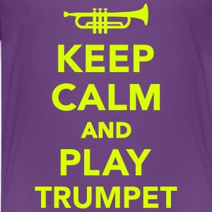 Keep calm and play trumpet T-Shirts - Kinder Premium T-Shirt