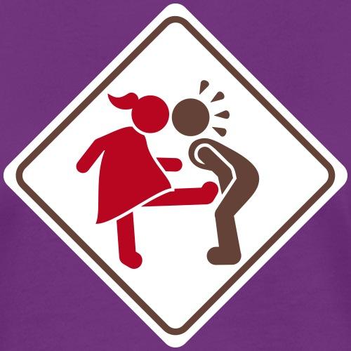 warnung ball kick - female 3 farb vektor