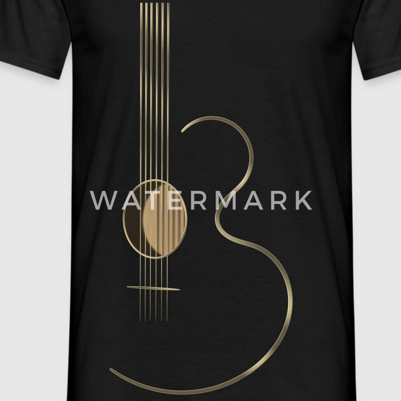 Acoustic Guitar Logo - Men's T-Shirt