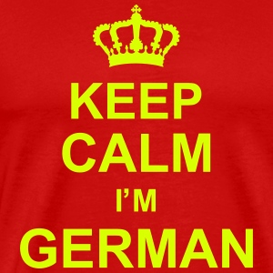 keep_calm_I'm_german_g1 T-shirts - Premium-T-shirt herr