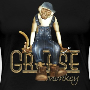 Funny Grease Monkey Mechanic - Women's Premium T-Shirt