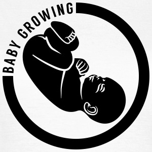 Baby growing flat T-shirts - T-shirt dam