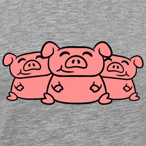 3 cute little piggy porcelet Tee shirts - T-shirt Premium Homme