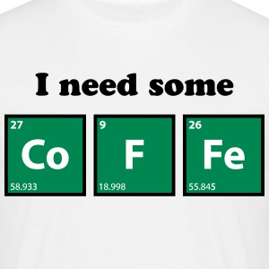 coffee, periodic table, chemie T-Shirts - Men's T-Shirt