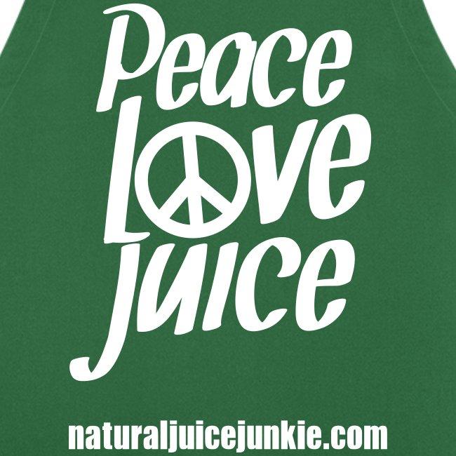 Peace Love Juice Apron
