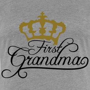 Första mormor Queen Crown Design T-shirts - Premium-T-shirt dam