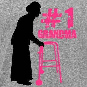 1# Grandma with Walker T-Shirts - Men's Premium T-Shirt