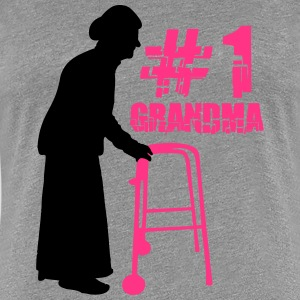 1# Grandma with Walker T-Shirts - Frauen Premium T-Shirt