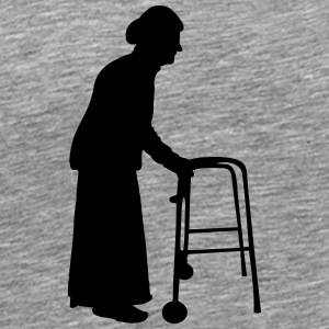 Granny with cane walking stick go Bock T-Shirts - Men's Premium T-Shirt