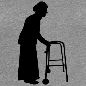 Granny with cane walking stick go Bock T-Shirts - Women's Premium T-Shirt