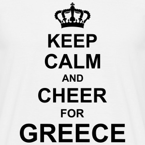 keep_calm_and_cheer_for_greece_g1 T-Shirts - Men's T-Shirt
