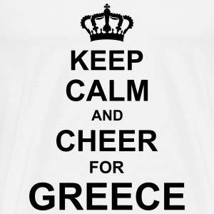 keep_calm_and_cheer_for_greece_g1 T-Shirts - Men's Premium T-Shirt