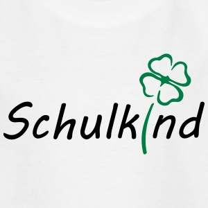 schulkind mit kleeblatt T-Shirts - Teenager T-Shirt