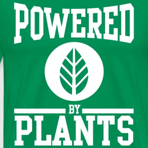 Powered by plants T-shirts - Herre premium T-shirt