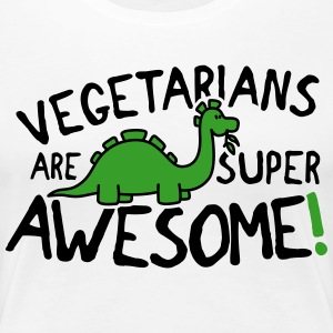 Vegetarians are super awesome! T-Shirts - Frauen Premium T-Shirt
