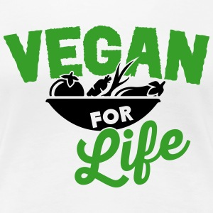Vegan for life T-shirts - Dame premium T-shirt