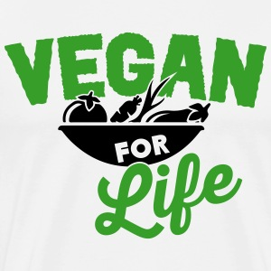 Vegan for life T-skjorter - Premium T-skjorte for menn