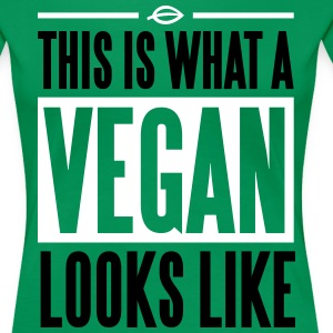 This is what a vegan looks like T-Shirts - Women's Premium T-Shirt