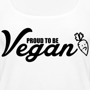 Proud to be vegetarian Toppar - Premiumtanktopp dam