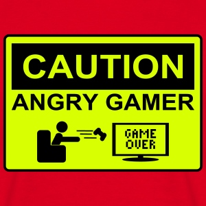 Caution angry gamer - T-shirt Homme