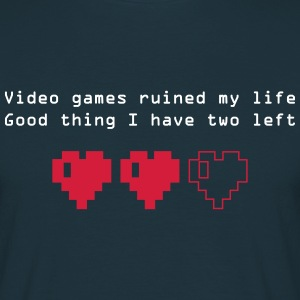 Videogames ruined my life - T-shirt Homme