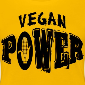 Vegan Power T-skjorter - Premium T-skjorte for kvinner