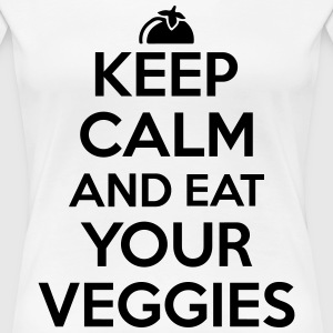 Keep calm and eat your veggies T-Shirts - Women's Premium T-Shirt