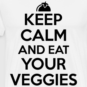 Keep calm and eat your veggies T-shirts - Premium-T-shirt herr