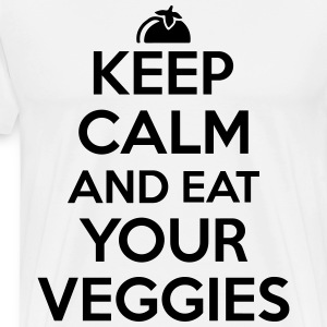 Keep calm and eat your veggies Tee shirts - T-shirt Premium Homme