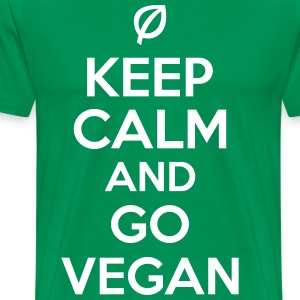Keep calm and go vegan T-skjorter - Premium T-skjorte for menn