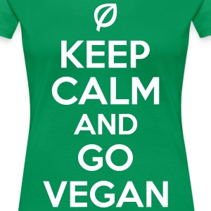 Keep calm and go vegan Magliette - Maglietta Premium da donna