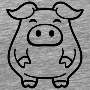 Cute little piggy piglet T-Shirts - Men's Premium T-Shirt