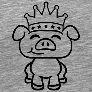 Prince Crown piglet piggy T-Shirts - Men's Premium T-Shirt
