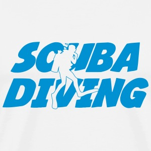 Scuba Diving T-shirts - Herre premium T-shirt