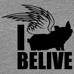 I belive flying wing piglets T-Shirts - Women's Premium T-Shirt