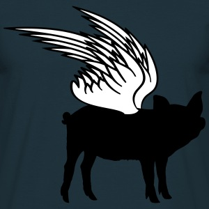 Flying wing pig piglets T-Shirts - Men's T-Shirt